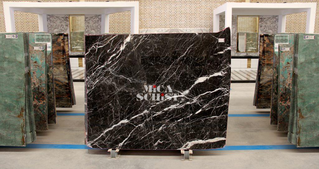 black marble stone slabs