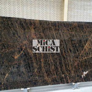 Brown marble slabs